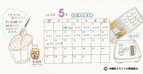 【沖縄の御願】旧暦3月後半の拝み。2018年5月前半