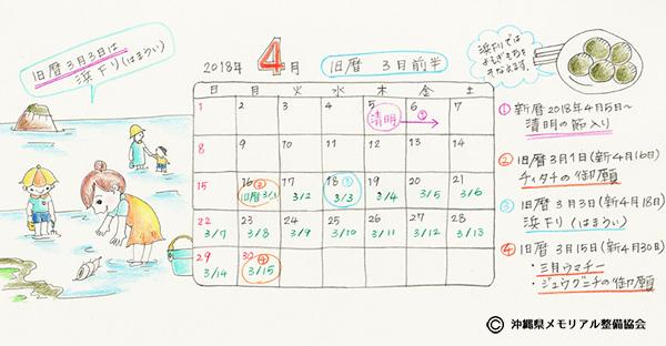 【沖縄の御願】旧暦3月前半の拝み。2018年4月後半