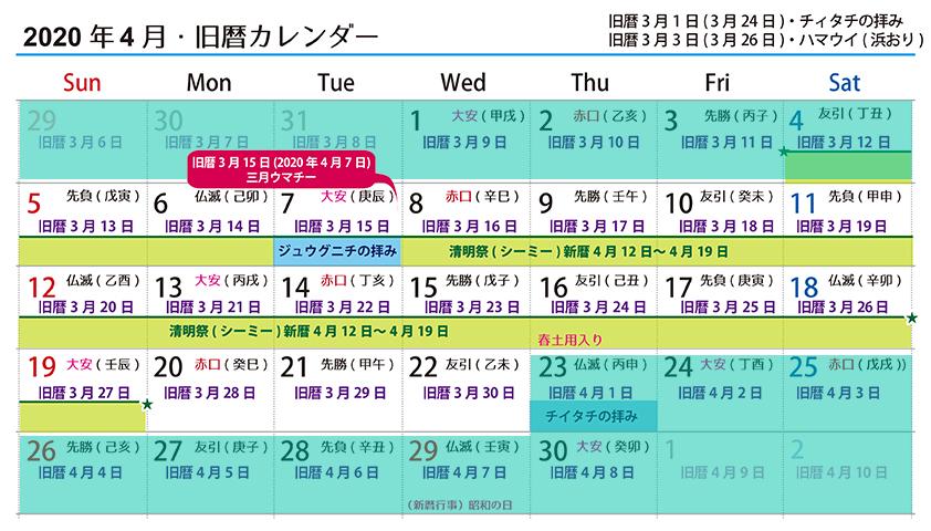 【沖縄の御願】旧暦3月後半の拝み☆2020年4月7日~4月22日